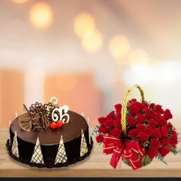 Chocolate_Cake_With_Flower_Basket