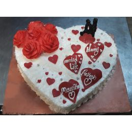 Delectable_Heartshape_Cake