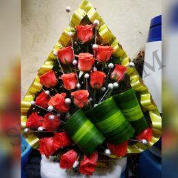Orange Roses_Basket